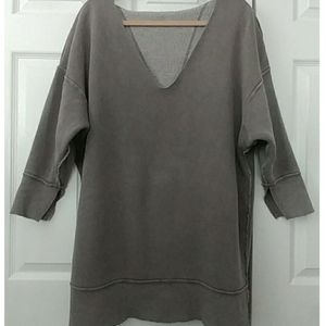 Free People gray reversible sweatshirt